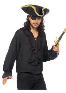 chemise pirate, chemise renaissance, chemise médiévale, accessoire déguisement pirate, Chemise Pirate et Renaissance, Noire