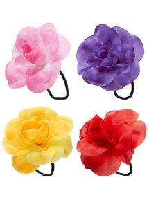 chouchou fleur hawaï, accessoire hawaïen, fleurs hawaïennes, Chouchou Fleur des Iles