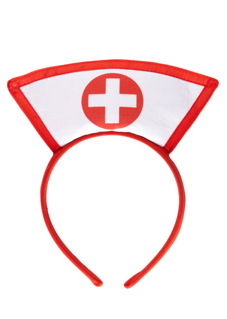 coiffe infirmière, accessoire déguisement infirmière, accessoire infirmière déguisement, accessoire coiffe d'infirmière, Coiffe d'Infirmière sur Serre Tête