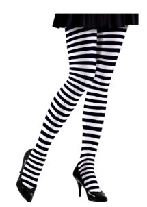 collants rayés, collant déguisement, accessoire déguisement, accessoires collants, collant halloween, accessoire halloween, collants sorcière, collant à rayures, Collants Rayés, Noirs et Blancs, Sorcière