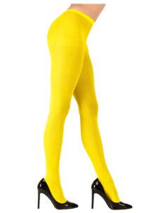 collant fluo, collant déguisement, collants fluos, accessoire fluo, accessoire déguisement, collant jaune fluo, Collant Fluo, Jaune