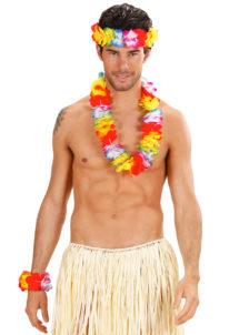collier de fleurs, collier hawaïen, collier hawai, collier Hawaï, bracelet Hawaï, couronne de fleurs hawaï, Collier, Bracelet et Bandeau Hawaïen