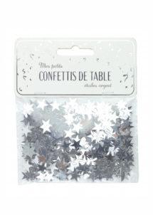 confettis de table, décorations étoiles argent, décorations de table fêtes, confettis de tables, décorations noel, Confettis de Table, Etoiles Argent