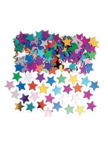 confettis de table, décorations de tables, décorations étoiles, Confettis de Table, Petites Etoiles Multicolores