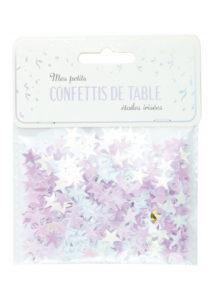 confettis de table, décorations étoiles irisées, décorations de table fêtes, confettis de tables, décorations noel, Confettis de Table, Etoiles Irisées