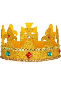 couronne de roi, couronne royale, Couronne Royale, Dorée Paillettes