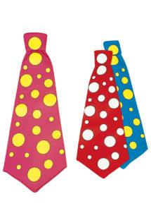 cravate de clown, cravate déguisement, maxi cravate, cravate large à pois, accessoire de clown, cravate à pois, cravate large à pois, déguisement de clown, Cravate de Clown à Pois