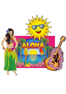 décorations hawaïennes, décorations tropicales, décorations hawaï, Décorations Hawaïennes x 4