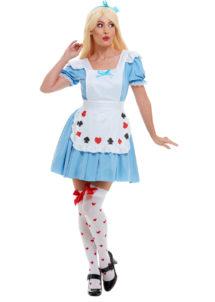 déguisement alice, déguisement alice au pays des merveilles, costume alice, déguisement dessin animé, costume d'Alice, déguisement alice femme, Déguisement Alice, avec Tablier Cartes