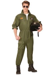déguisement pilote de combat, costume pilote de combat, déguisement top gun, combinaison top gun déguisement, costume top gun homme, Déguisement Aviateur, Pilote de Combat Top Gun