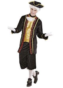 déguisement de marquis, costume de marquis, déguisement vénitien homme, déguisement venise homme, costume marquis adulte, Déguisement de Marquis, Noble Vénitien Noir et Or