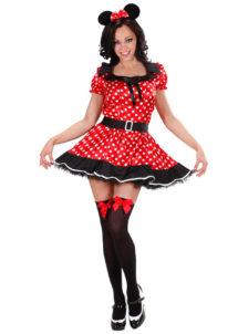 déguisement de minnie femme, déguisement de souris, déguisement dessin animé femme, déguisement disney adulte, Déguisement de Minnie Souris, avec Oreilles
