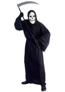 costume mort halloween, déguisement de faucheur, déguisement halloween homme, déguisement de la mort halloween, costume mort, costume halloween adulte, déguisement halloween homme, déguisement grim reapera, Déguisement de Faucheuse, avec Masque Blanc