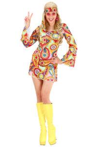 déguisement hippie femme, costume de hippie femme, déguisement robe hippie femme, soirée à thème hippie, Déguisement Hippie Girl, 70s