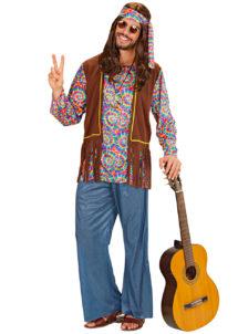 déguisement de hippie homme, costume hippie homme, déguisement hippie adulte, déguisement peace and love homme, déguisement années 70 homme, déguisement années 70 adulte, Déguisement Hippie Psychédélique