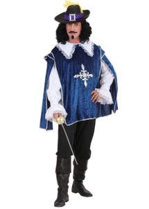 déguisement de mousquetaire, costume mousquetaire homme, tunique mousquetaire adulte, déguisement de mousquetaire, Déguisement de Mousquetaire, Bleu