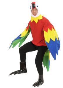 déguisement de perroquet, costume perroquet adulte, déguisement perroquet homme, déguisement oiseau homme, costume animal, déguisement animal homme, Déguisement de Perroquet, Combinaison