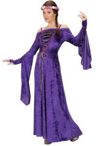 déguisement princesse médiévale, déguisement médiéval femme, robe médiévale, Déguisement de Princesse Médiévale, Fair Maiden Violet