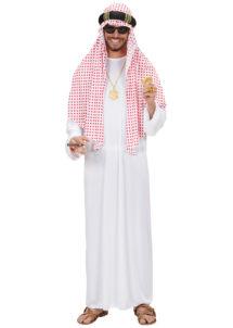 déguisement de prince arabe, déguisement oriental, déguisement sheik arabe, costume sheik arabe, déguisement roi du pétrole, Déguisement Sheik Arabe, Foulard Rouge et Blanc