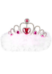 diadème princesse, couronne de princesse, couronne de miss, couronne evjf, accessoire bride to be, Couronne de Miss, Plumes Blanches