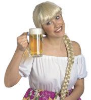 perruque femme, perruque pas cher paris, perruque blonde, perruque bavaroise, perruque natte blonde, perruque oktoberfest, perruque aubergiste Perruque de Bavaroise, Elga, Natte Blonde