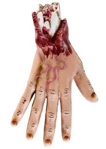 décorations halloween, accessoire décoration halloween, fausse main arrachée, fausse main coupée, accessoire halloween, accessoire zombie déguisement, accessoire déguisement, fausse main, faux membres, Fausse Main Arrachée de Zombie