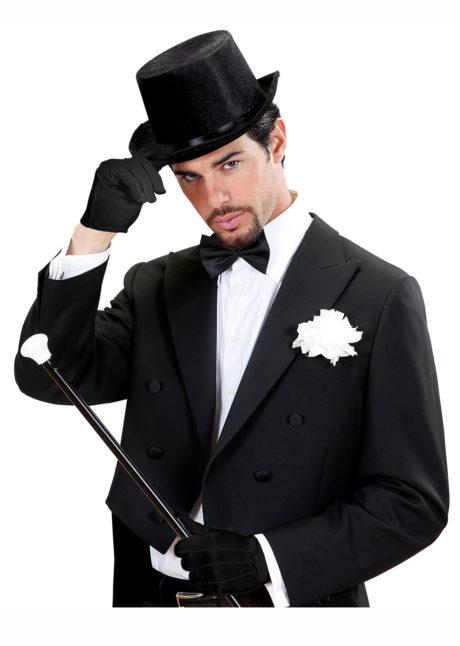 gants noirs, gants courts noirs, gants homme déguisement, accessoires gants déguisement, gants de déguisement, gants années 20 homme déguisement, Gants Courts, Noirs
