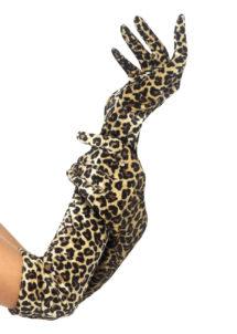 gants lycra léopard, gants longs femme, gants déguisement, gants longs léopard, gants motifs léopard, gants femme léopard, accessoire léopard déguisement, accessoire déguisement léopard, Gants Léopard
