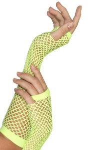 gants mitaines résille, gants verts fluos, gants années 80, accessoire femme disco, accessoire années 80 déguisement, mitaines résille déguisement, gants filets verts déguisement, Gants Mitaines Résille, Verts, Fluos