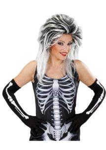 gants squelette, gants halloween, accessoire halloween, gants squelette déguisement, gants déguisement squelette, accessoire déguisement squelette, gants squelettes femme, Gants de Squelette, Longs
