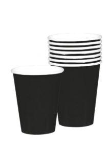 vaisselle jetable, gobelets en carton, vaisselle verte, vaisselle pour anniversaires, gobelets pour anniversaires paris, Vaisselle Noire, Gobelets
