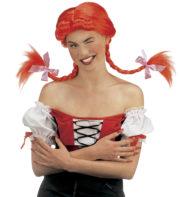 perruque femme, perruque pas cher paris, perruque rouge, perruque tresses, perruque nattes rouges, perruque fifi brindacier Perruque Fifi Brin d'Acier, Tresses Rouges