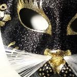 masque vénitien, loup vénitien, masque de chat glitter Loup Masque, Gatone Tigre, Glitter