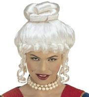 perruque de marquise, perruque femme, perruque historique, perruque de comtesse Perruque de Marquise, Comtesse Yolanda, Blanche