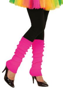 jambières rose fluo, guêtres rose fluo, accessoire fluo, accessoire années 80, Guêtres, Jambières Années 80, Rose Fluo