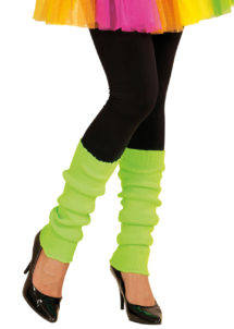 jambières vert fluo, guêtres vert fluo, accessoire fluo, accessoire années 80, Guêtres, Jambières Années 80, Vert Fluo
