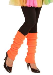 jambières orange fluo, guêtres orange fluo, accessoire fluo, accessoire années 80, Guêtres, Jambières Années 80, Orange Fluo
