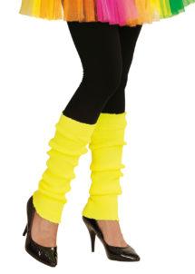 jambières jaune fluo, guêtres jaunes fluo, accessoire fluo, accessoire années 80, Guêtres, Jambières Années 80, Jaune Fluo