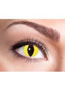 lentilles jaunes de chat, lentilles halloween, lentilles fantaisie, lentilles déguisement, lentilles déguisement halloween, lentilles de couleur, lentilles fete, lentilles de contact déguisement, lentilles oeil de chat, Lentilles Oeil de Chat, Jaunes, Yellow Cat
