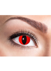 lentilles rouges de chat, lentilles halloween, lentilles fantaisie, lentilles déguisement, lentilles déguisement halloween, lentilles de couleur, lentilles fete, lentilles de contact déguisement, lentilles oeil de chat, Lentilles Oeil de Chat, Rouges, Red Cat