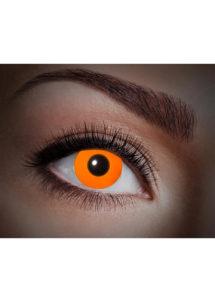 lentilles uv, lentilles fluos, lentilles halloween, lentilles fantaisie, lentilles déguisement, lentilles déguisement halloween, lentilles de couleur, lentilles fete, lentilles de contact déguisement, lentilles oranges fluos, Lentilles Fluos, UV Flash, Oranges