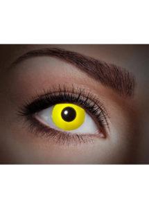 lentilles UV, lentilles jaunes, lentilles halloween, lentilles fantaisie, lentilles déguisement, lentilles déguisement halloween, lentilles de couleur, lentilles fete, lentilles de contact déguisement, lentilles fluos, Lentilles Fluos, UV Flash, Jaunes