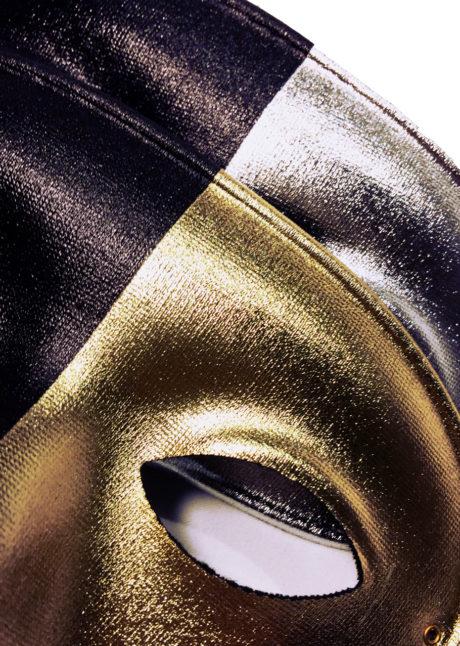 loup vénitien noir et or, masque vénitien noir et or, loup vénitien noir et argent, loup vénitien pas cher, Loup Bicolore, Argent ou Or