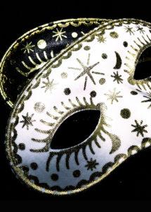 masque vénitien, loup vénitien, loup carnaval, masque de carnaval, loups dorés, loups argent, Loup Doré Comètes, Blanc ou Noir