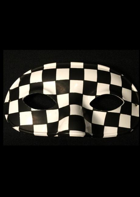 loup arlequin, loup damier, masque arlequin, masque noir et blanc, loup damier noir et blanc, Loup Damier