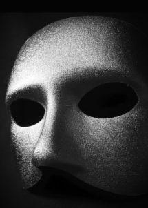 masque vénitien, loup vénitien, masque visage argent, masque carnaval de Venise, Loup Doge, Argent