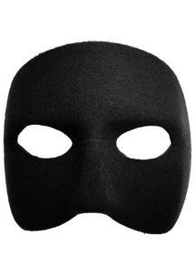 masque vénitien, loup vénitien, masque visage noir, masque carnaval de Venise, Loup Doge, Noir