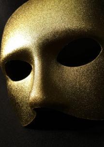masque vénitien, loup vénitien, masque visage doré, masque or, masque carnaval de Venise, Loup Doge, Or