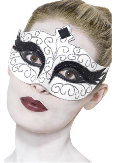 loup vénitien, masque vénitien, loup black swan, Loup Black Swan