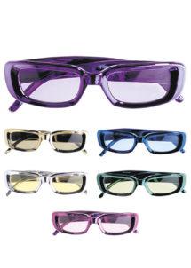 lunettes métal, lunettes années 80, lunettes de déguisement, Lunettes Coloris Métallisés